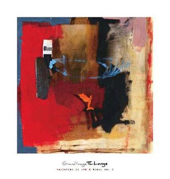 Reprodução do quadro Variation In Red & Black I