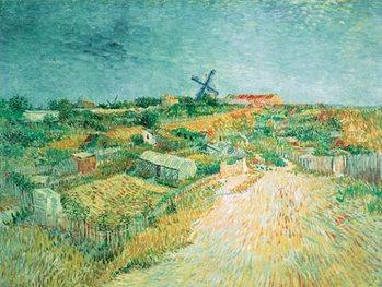 Reprodução do quadro  Vegetable Gardens in Montmartre: La Butte Montmartre, 1887