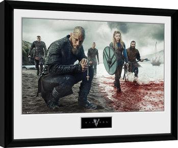 Vikings - Blood Landscape Poster Emoldurado