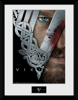 Vikings - Keyart Poster Emoldurado