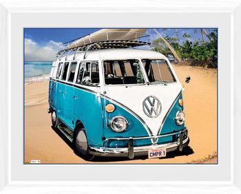 VW Camper - Camper Poster Emoldurado