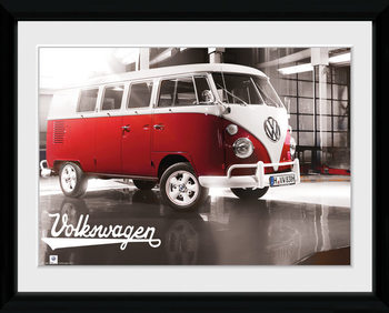 VW Camper - Warehouse Poster Emoldurado