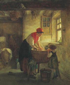 Reprodução do quadro  Washing Day
