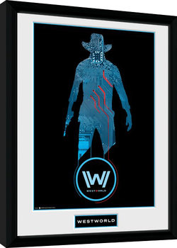 Westworld - Silhouette Poster Emoldurado