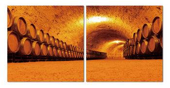 Quadro Whiskey barrels in the cellar