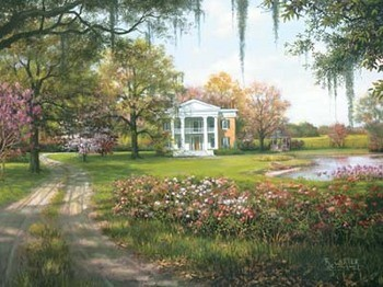 Reprodução do quadro Wild Rose Manor