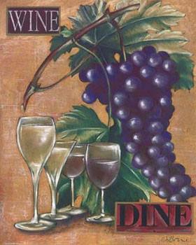 Reprodução do quadro Wine & Dine I
