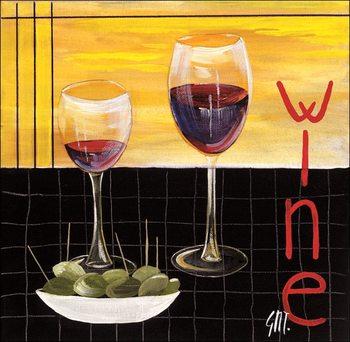 Reprodução do quadro Wine