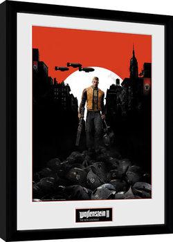 Wolfenstein 2 - Key Art Poster Emoldurado