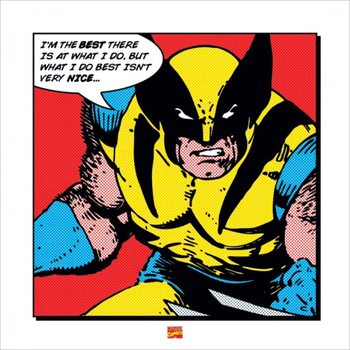 Reprodução do quadro  Wolverine - I'm The Best