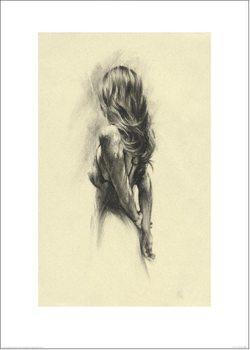 Reprodução do quadro Woman - Back