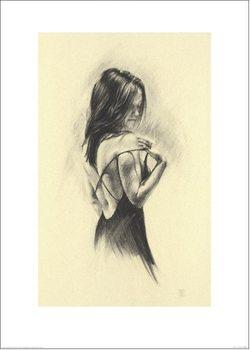 Reprodução do quadro Woman - Dark