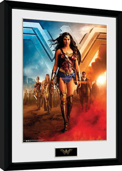 Wonder Woman Movie - Group Poster Emoldurado