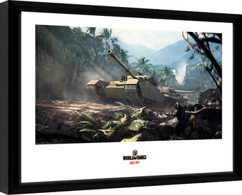 World of Tanks - Forest Tanks Poster Emoldurado
