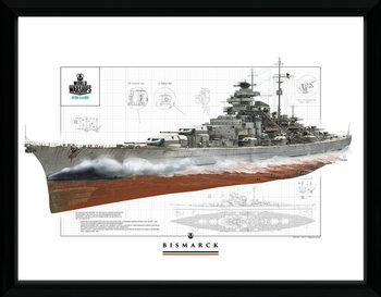 World Of Warships - Bismark Poster Emoldurado