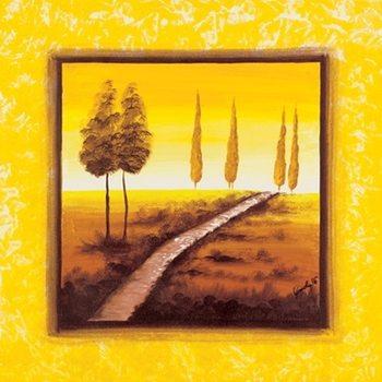 Reprodução do quadro Yellow Path