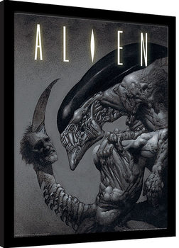 Poster Emoldurado Aliens - Head on Tail
