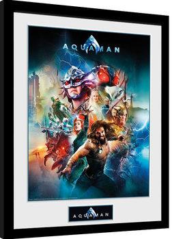 Poster Emoldurado Aquaman - Collage