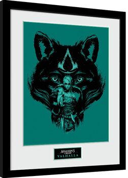 Poster Emoldurado Assassin's Creed: Valhalla - Wolf