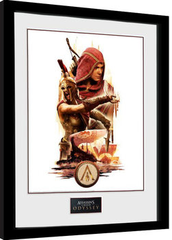Poster Emoldurado Assassins Creed Odyssey - Collage