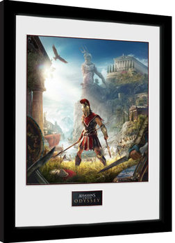 Poster Emoldurado Assassins Creed Odyssey - Key Art