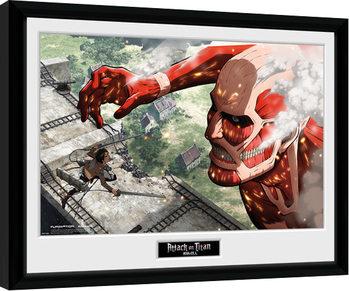 Poster Emoldurado Attack On Titan - Titan