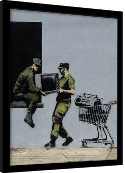 Poster Emoldurado Banksy - Looters Masters