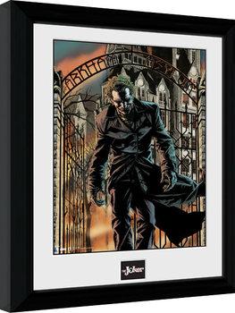Poster Emoldurado Batman Comic - Arkham Asylum
