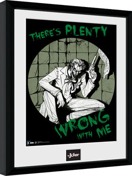 Poster Emoldurado Batman Comic - Joker Plenty Wrong