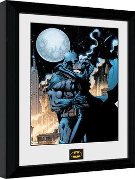 Poster Emoldurado Batman Comic - Moonlit Kiss