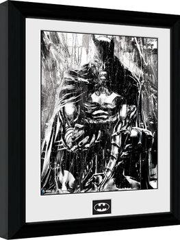 Poster Emoldurado Batman Comic - Rain