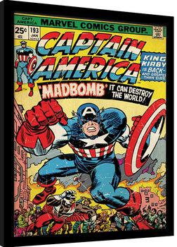 Poster Emoldurado Captain America - Madbomb