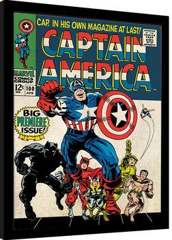 Poster Emoldurado Captain America - Premiere
