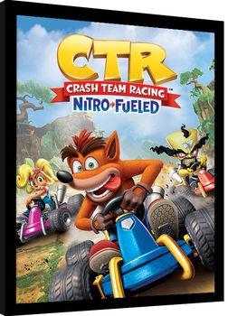 Poster Emoldurado Crash Team Racing - Race