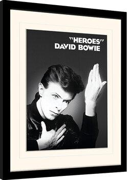 Poster Emoldurado David Bowie - Heroes