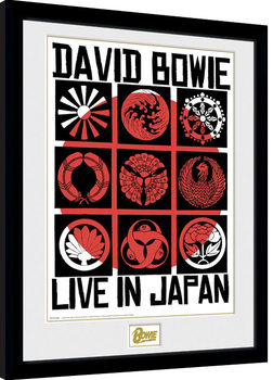 Poster Emoldurado David Bowie - Live In Japan