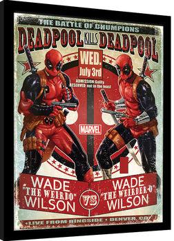Poster Emoldurado Deadpool - Wade vs Wade