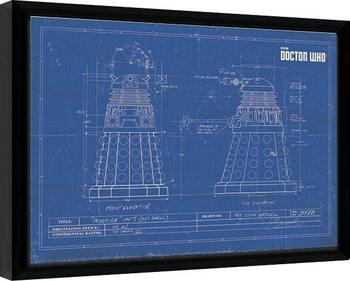 Poster Emoldurado Doctor Who - Dalek Blueprint