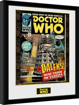 Poster Emoldurado Doctor Who - Daleks Tardis Comic