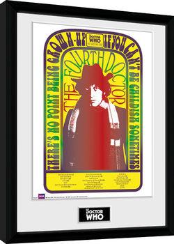 Poster Emoldurado Doctor Who - Spacetime Tour 4th Doctor