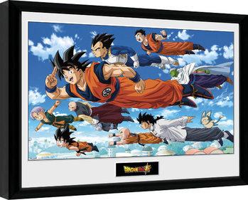 Poster Emoldurado Dragon Ball - Flying