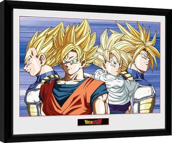Poster Emoldurado Dragon Ball Z - Group