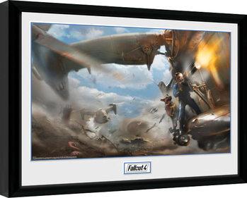 Poster Emoldurado Fallout 4 - Virtibird Door Gunner