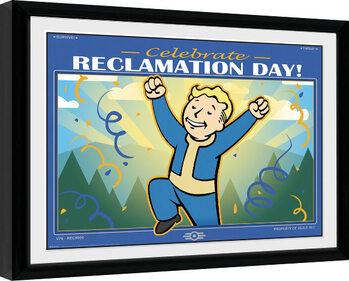Poster Emoldurado Fallout 76 - Reclamation Day