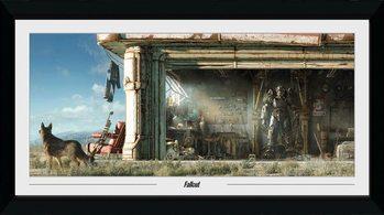 Poster Emoldurado Fallout - Garage