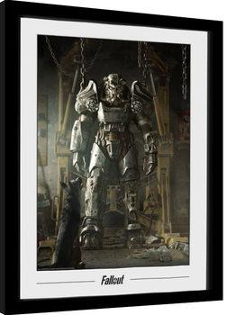 Poster Emoldurado Fallout - Power Armour