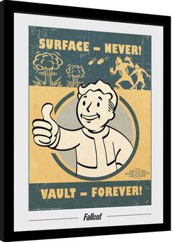 Poster Emoldurado Fallout - Vault Forever