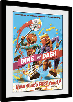 Poster Emoldurado Fortnite - Dine n Dash