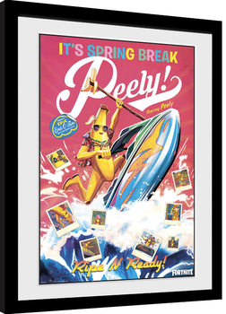 Poster Emoldurado Fortnite - Spring Break Peely