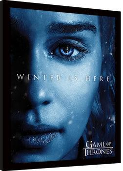 Poster Emoldurado Game Of Thrones - Winter is Here - Daenerys